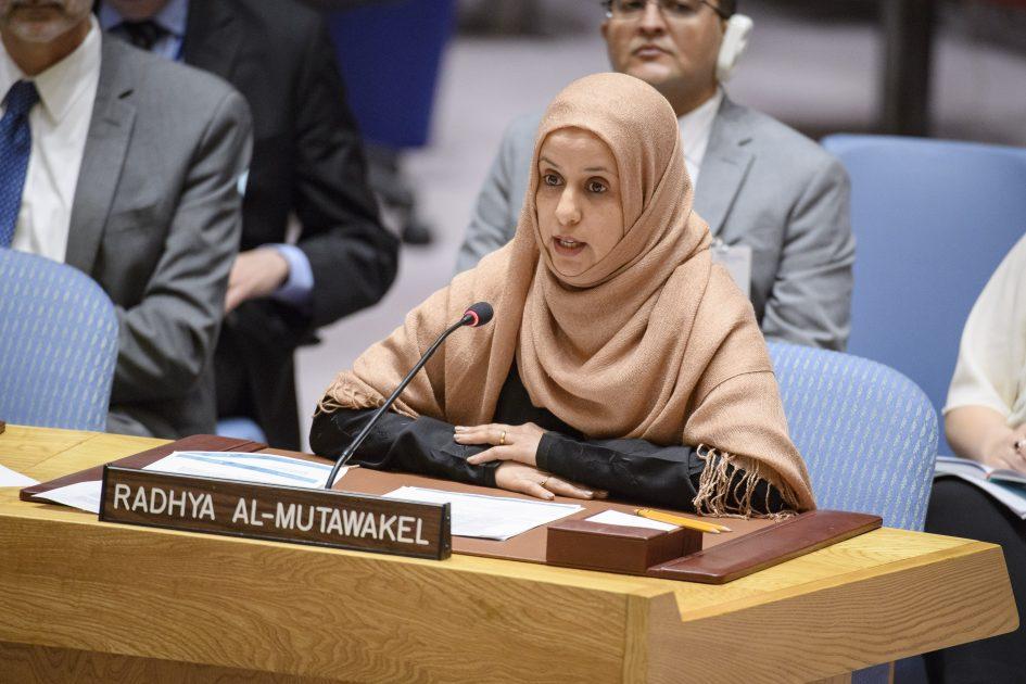 UN Security Council Briefing on Yemen by Radhya Almutwakel