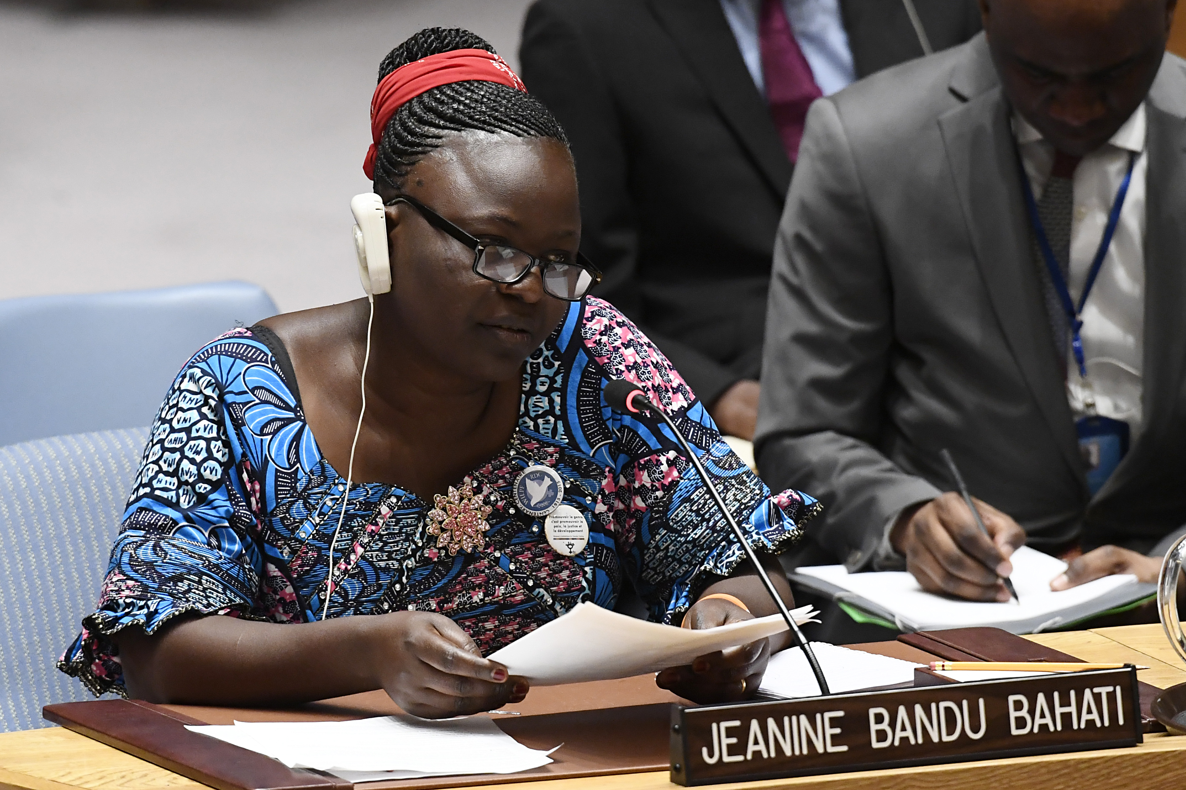 UN Security Council Briefing on the Democratic Republic of the Congo by Jeanine Bandu Bahati