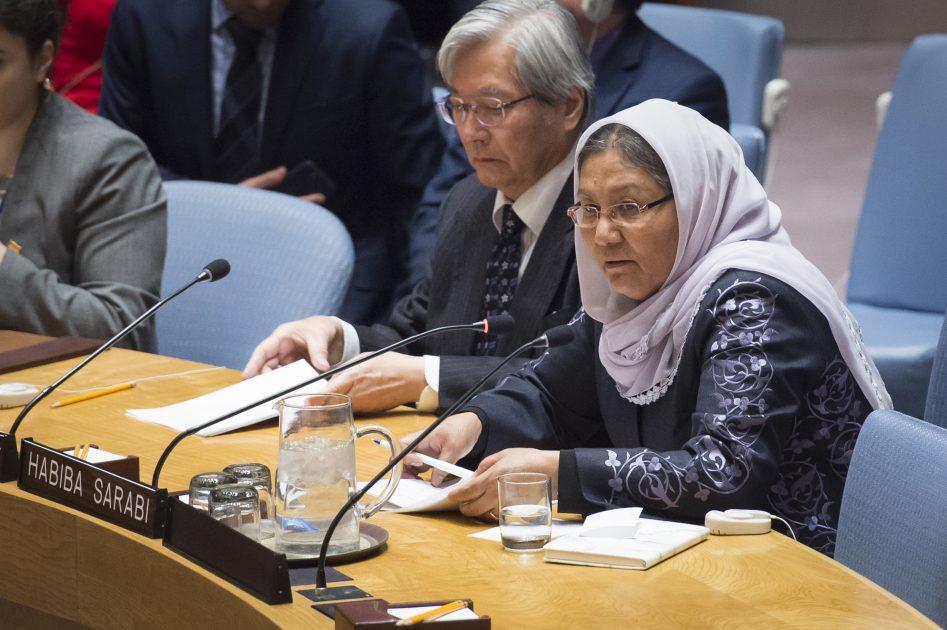 UN Security Council Briefing on Afghanistan by Habiba Sarabi