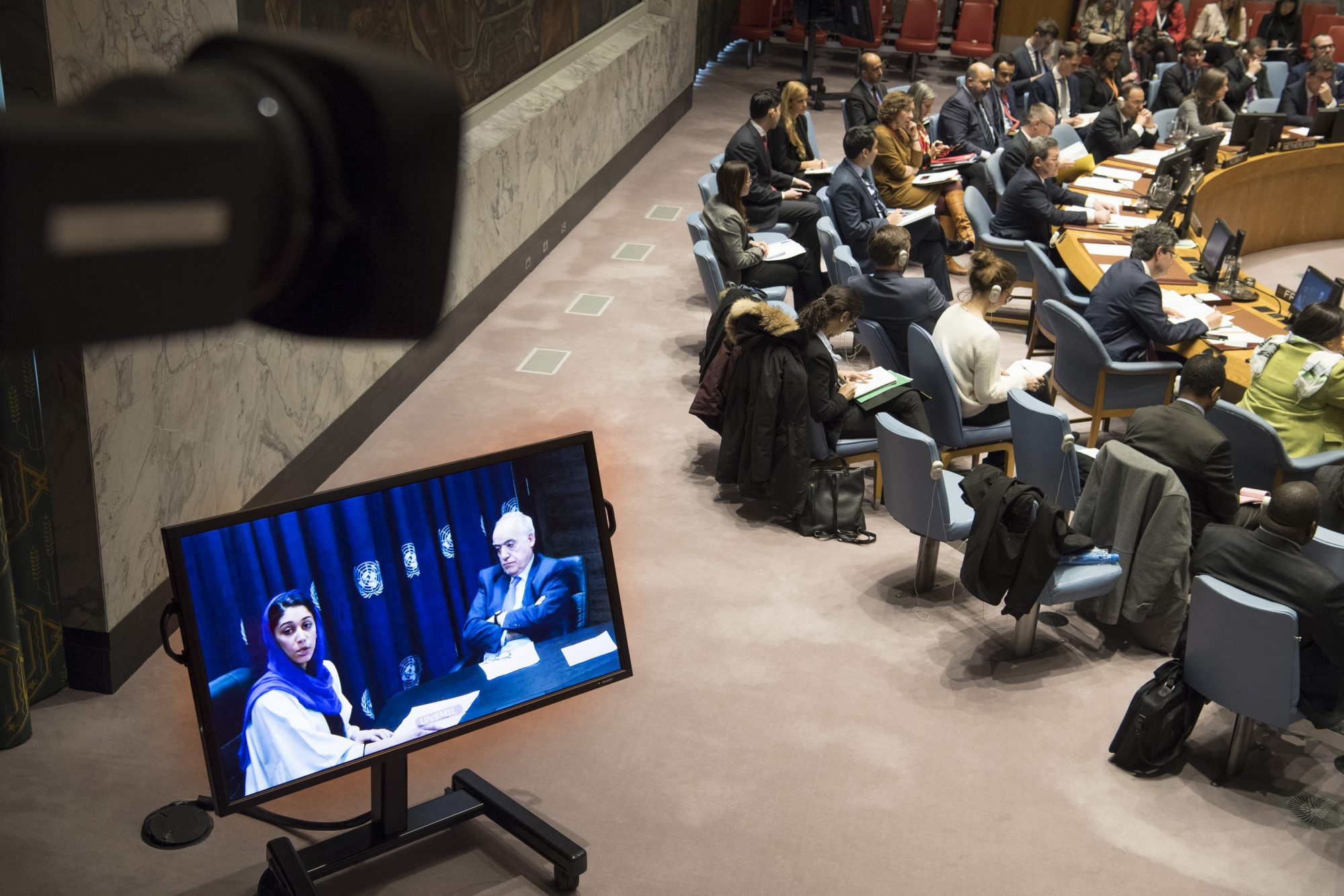UN Security Council Briefing on Libya by Hajer Sharief