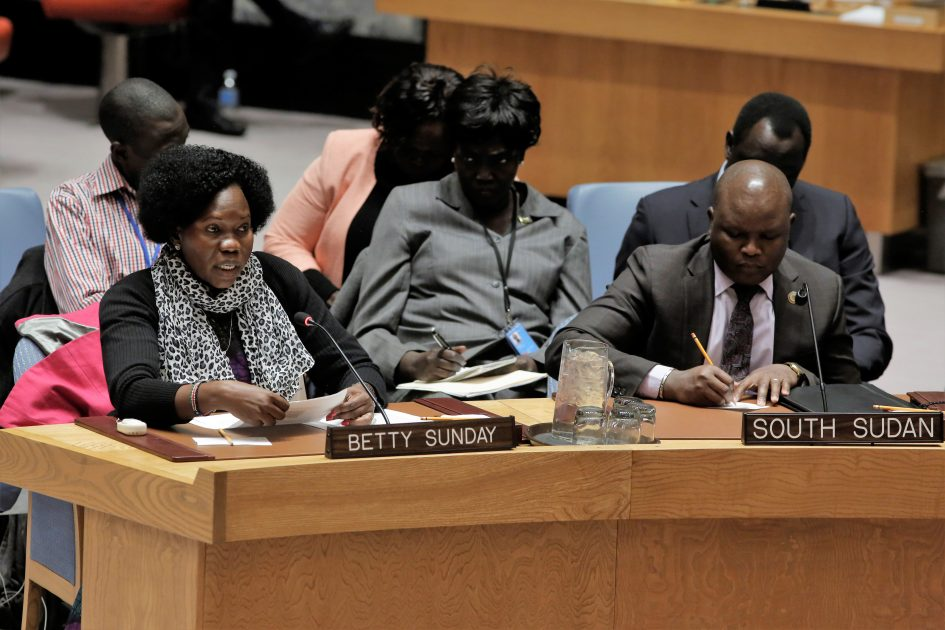 UN Security Council Briefing on South Sudan by Betty Sunday
