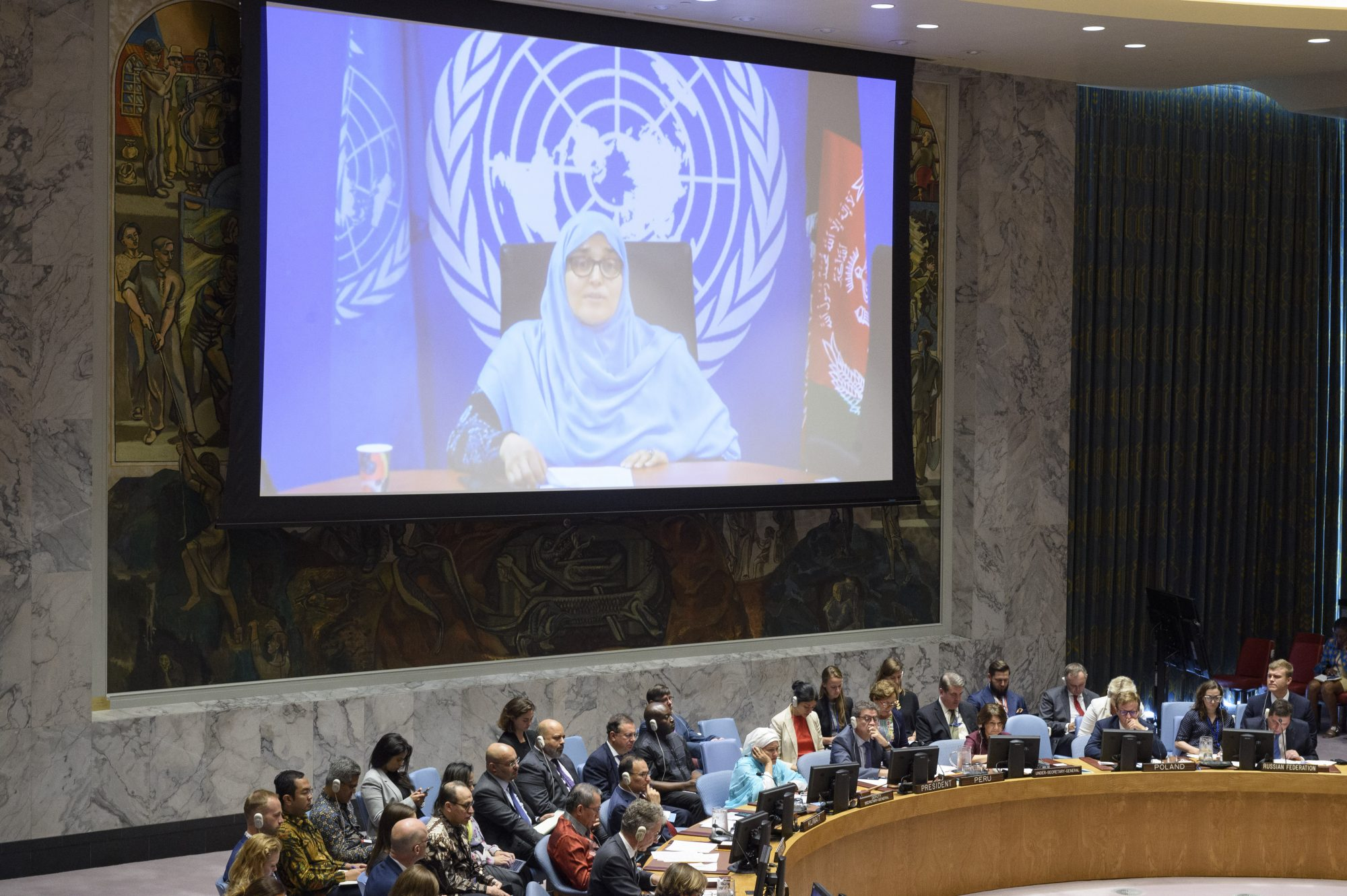 UN Security Council Briefing on Afghanistan by Jamila Afghani