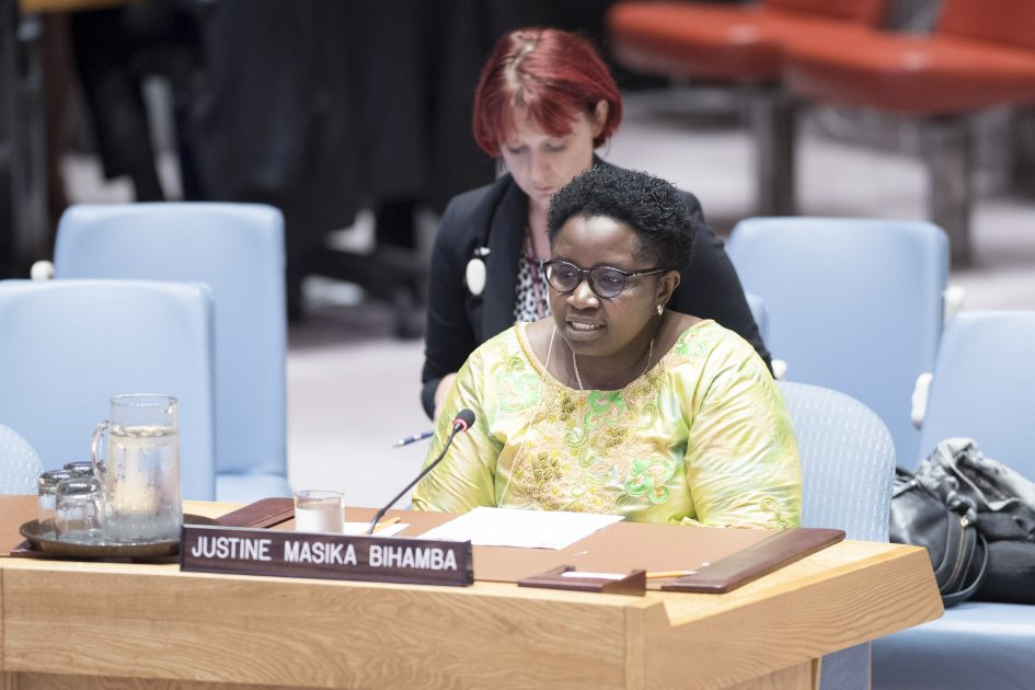 UN Security Council Briefing on the Democratic Republic of the Congo by Justine Masika Bihamba