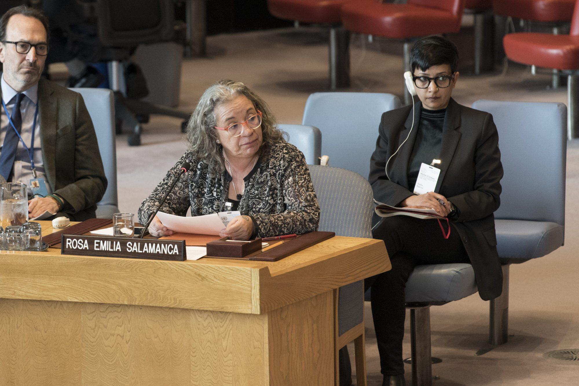 UN Security Council Briefing on Colombia by Rosa Emilia Salamanca